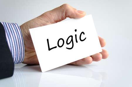 lógica: Concepto de texto lógica aislada sobre fondo blanco