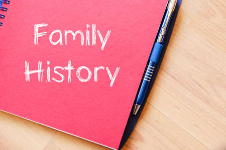 nephew: Family history text concept write on notebook with pen