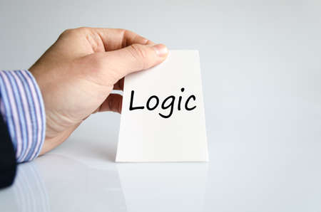 Logic text concept isolated over white background Stock Photo