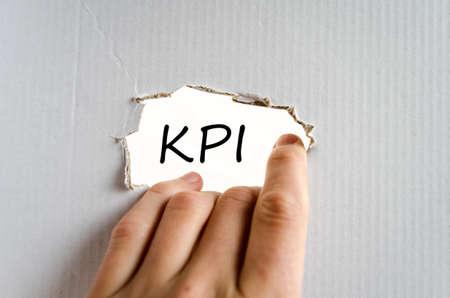 kpi: Kpi text concept isolated over white background