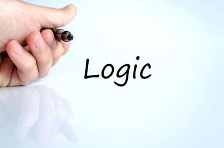 l�gica: Concepto de texto l�gica aislada sobre fondo blanco