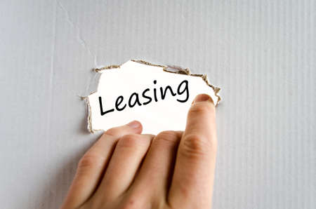 leasing: Leasing text concept isolated over white background