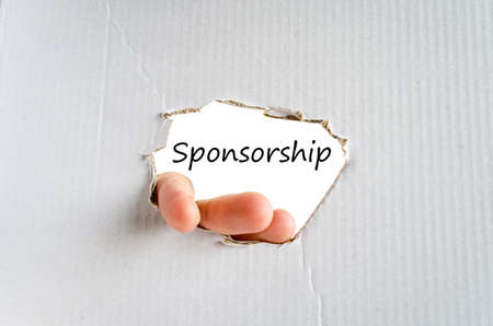 sponsorship: Sponsorship text concept isolated over white background