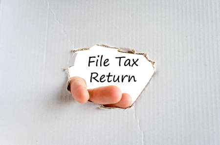 accrual: File tax return text concept isolated over white background