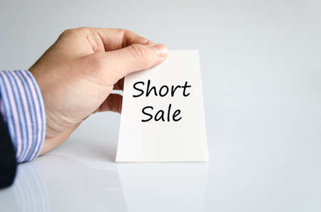 short sale: Short sale text concept isolated over white background