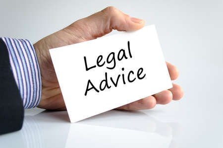 governing: Legal advice text concept isolated over white background