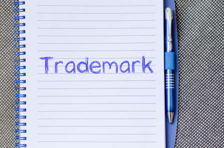 copycat: Trademark text concept write on notebook with pen Stock Photo