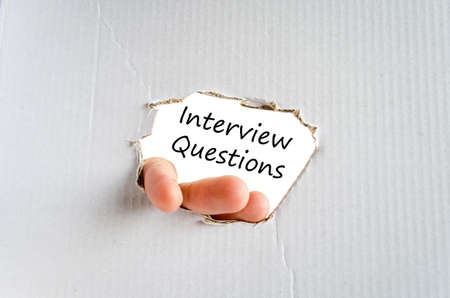 appropriate: Interview questions text concept isolated over white background