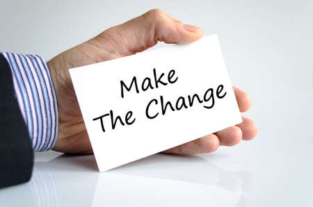 challenges ahead: Make the change text concept isolated over white background Stock Photo