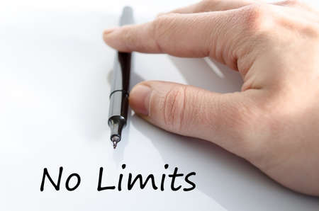 No limits text concept isolated over white background