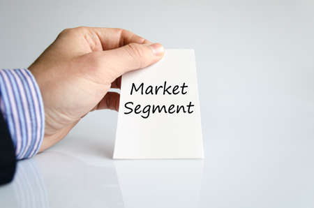 Market segment text concept isolated over white background