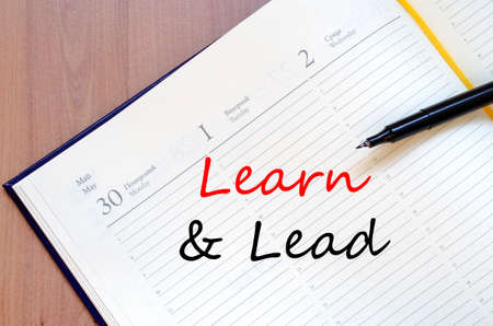 learn and lead: Learn & Lead text concept write on notebook