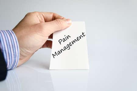 pain management: Business man hand writing pain management Stock Photo