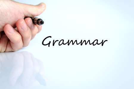 grammar: Grammar text concept isolated over white background Stock Photo