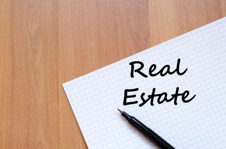 renter: Real estate text concept write on notebook with pen