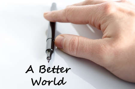 better: A better world  text concept isolated over white background