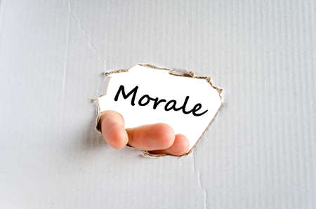 normative: Morale text concept isolated over white background