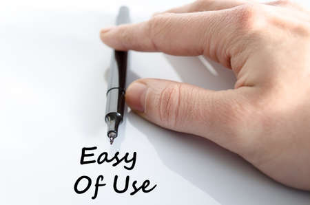 Easy of use text concept isolated over white background Stock Photo