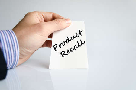 endanger: Product recall text concept isolated over white background Stock Photo