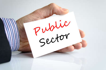 public sector: Public sector text concept isolated over white background Stock Photo