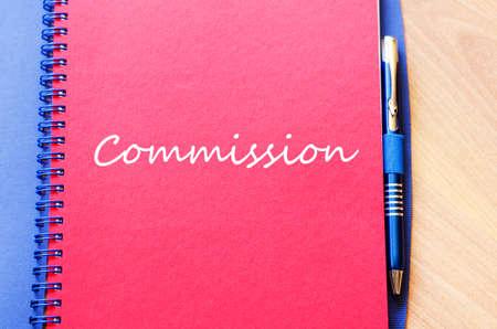 european economic community: Commission text concept write on notebook