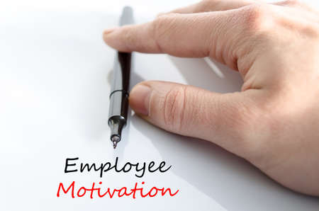 govern: Employee motivation text concept isolated over white background Stock Photo
