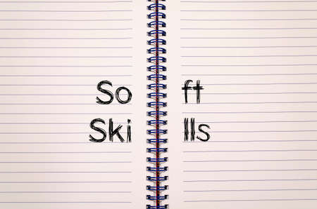 trustworthiness: Soft skills text concept write on notebook Stock Photo