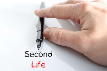 cronologia: Segunda nota la vida en la mano del hombre de negocios