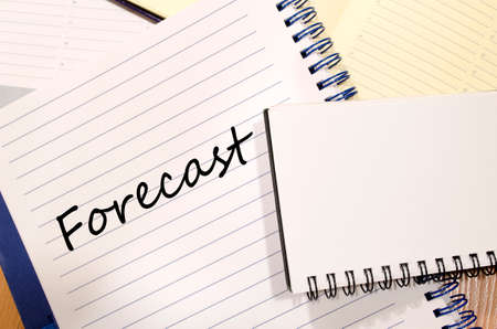 forecaster: Forecast text concept write on notebook Stock Photo