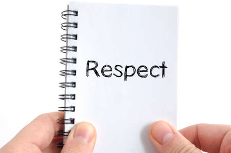 honorable: Respect text concept isolated over white background