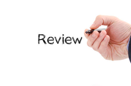 approval rate: Review text concept isolated over white background Stock Photo
