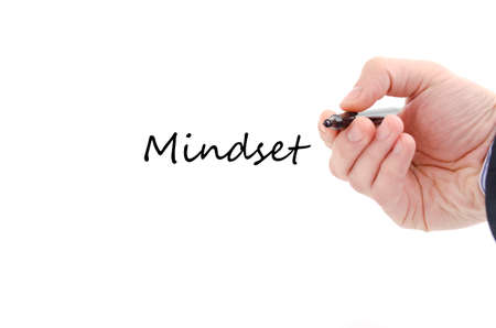 mindset: Mindset text concept isolated over white background