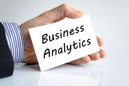 estimating: Business analytics text concept isolated over white background