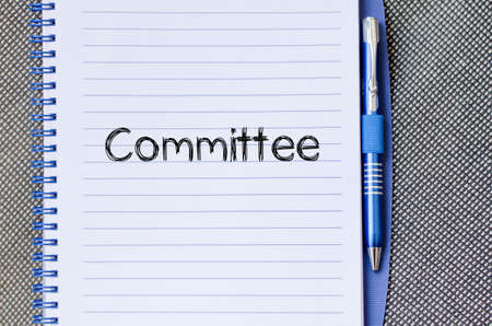 comit� d entreprise: Committee text concept write on notebook