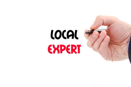 qualify: Local expert text concept isolated over white background