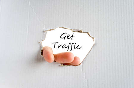hits: Get traffic text concept isolated over white background