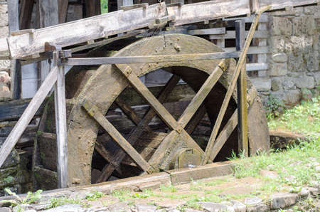 water mill: Old wooden water mill