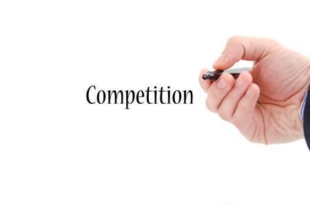 aggressiveness: Competition text concept isolated over white background