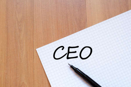 ceo: Ceo text concept write on notebook Stock Photo