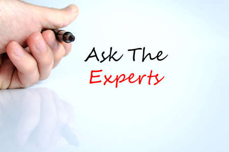 warranty questions: Ask the experts text concept isolated over white background