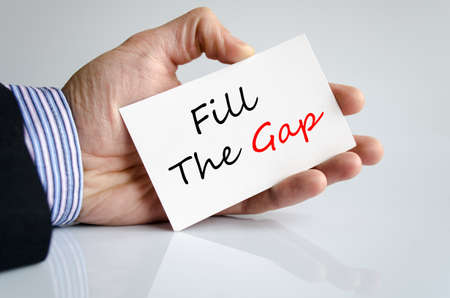 shortfall: Fill the gap text concept isolated over white background