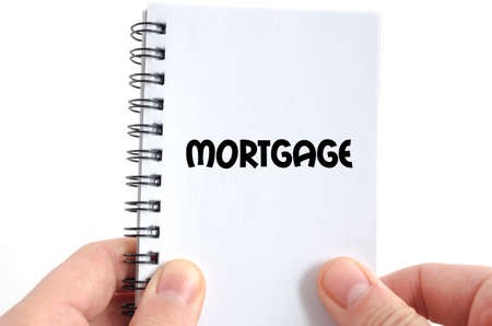 creditworthiness: Mortgage text concept isolated over white background