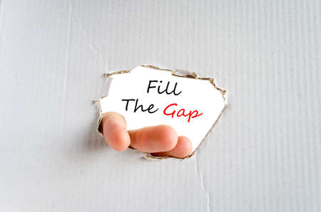 Fill the gap text concept isolated over white background
