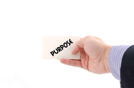 debate win: Purpose text concept isolated over white background Stock Photo