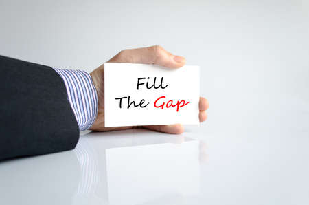 inadequate: Fill the gap text concept isolated over white background