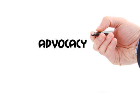 uprightness: Advocacy text concept isolated over white background