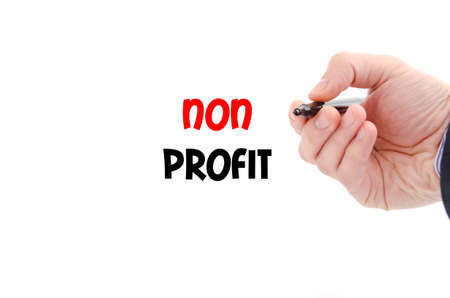 non profit: Non profit text concept isolated over white background