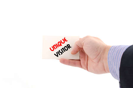 adwords: Unique visitor text concept isolated over white background Stock Photo