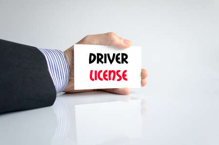 passed test: Driver license text concept isolated over white background