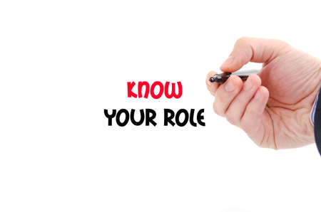 personality development: Know your role text concept isolated over white background